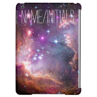Personalized Monogram Galactic Outer Space Purple iPad Air Cases