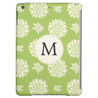 Personalized Monogram Green Floral pattern Case For iPad Air