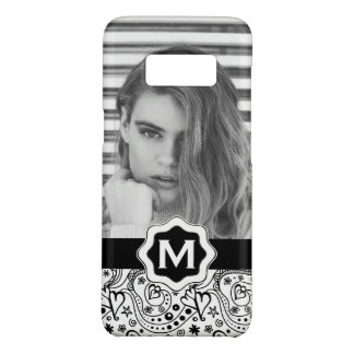 Personalized Monogram Hearts Doodle with Photo Case-Mate Samsung Galaxy S8 Case