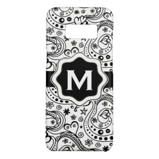Personalized Monogram Hearts Love Doodle Pattern Case-Mate Samsung Galaxy S8 Case