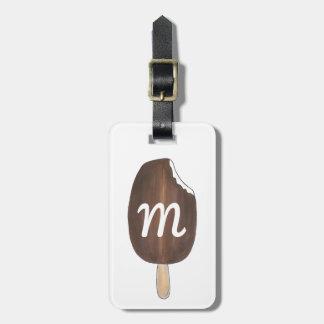 Personalized Monogram Ice Cream Popsicle Bag Tag