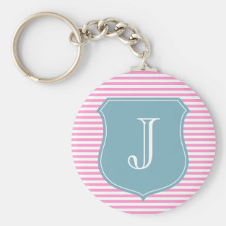 Personalized monogram keychain | initial J letter