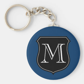 Personalized monogram keychain with letter emblem
