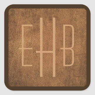 Personalized Monogram Leather Image Stickers