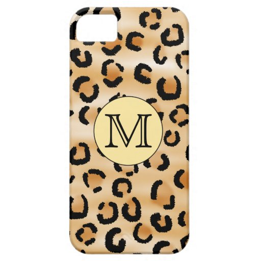 Personalized Monogram Leopard Print Pattern. iPhone 5 Cases