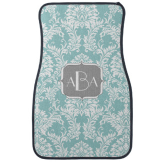 Personalized Monogram Modern Damask Any Color Floor Mat
