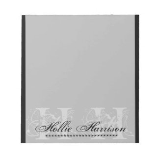 Personalized Monogram : Notepad