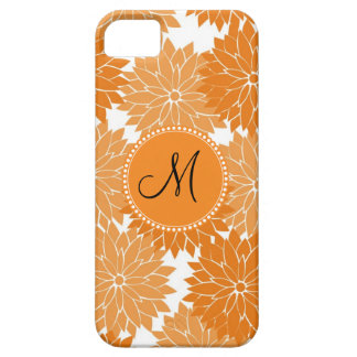 Personalized Monogram Orange Flower Blossoms iPhone 5 Cover