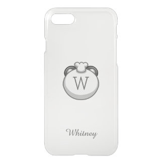 Personalized Monogram Panda   Elegant White iPhone 7 Case