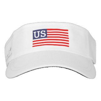Personalized monogram patriotic American US flag Visor