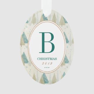 Personalized Monogram Photo Ornament