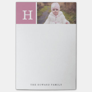 Personalized | Monogram & Photo Post-it Notes
