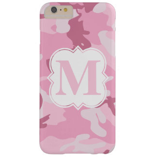 Personalized Monogram Pink Camouflage Pattern Barely There iPhone 6 Plus Case