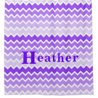 Personalized Monogram Purple Lavender Chevron Girl
