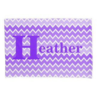 Personalized Monogram Purple Lavender Chevron Girl Pillowcase