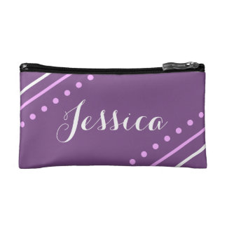 Personalized Monogram Purple Patterned Bag