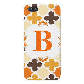 Personalized Monogram Retro Quatrefoil Pattern Case For The iPhone 5