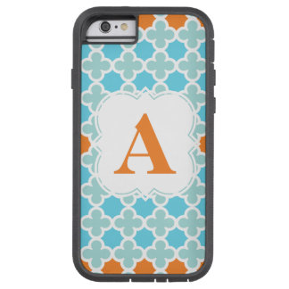 Personalized Monogram Retro Quatrefoil Pattern Tough Xtreme iPhone 6 Case