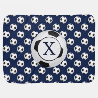 Personalized Monogram Soccer Balls Sports Receiving Blanket