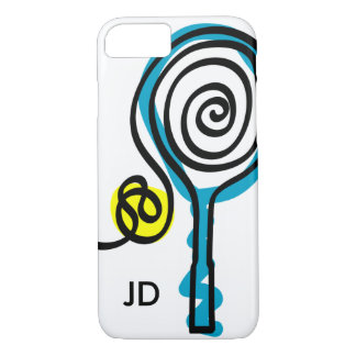 Personalized monogram tennis racket iPhone 7 case