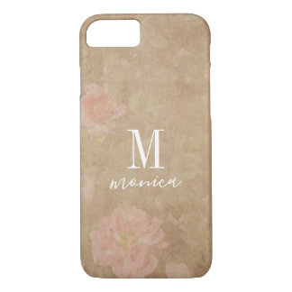 Personalized Monogram Vintage Roses iPhone 8/7 Case