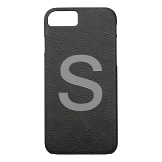 Personalized Monogrammed Initial | Black Leather Case-Mate iPhone Case