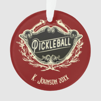 Personalized Monogrammed Pickleball Ornament