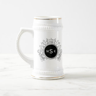Personalized Monogrammed Royal Coat of Arms Lion Beer Stein