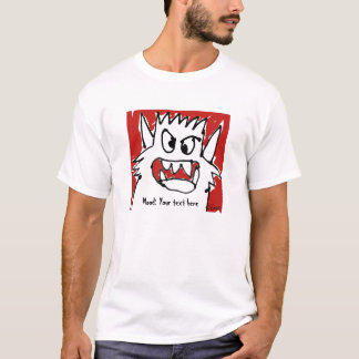 Personalized Monster Mood Cartoon T+Shirt T-Shirt