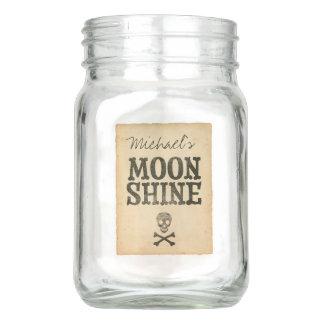 Personalized Moonshine Mason Jar