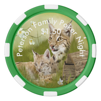 Personalized Mother and Baby Wildcats Set Of Poker Chips