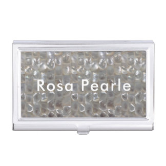 Personalized Mother of Pearl Business Card Holder