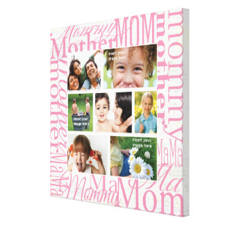 Personalized Mother's Day Photo Collage Canvas Print