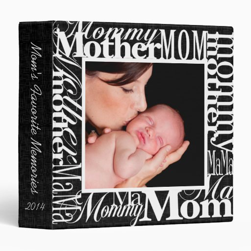 Personalized Mother's Day Photo Collage Scrapbook 3 Ring Binders