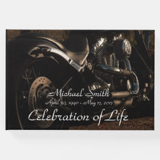 Personalized Motorcycle Memorial Guest Book