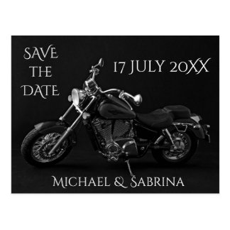 Personalized Motorcycle Save the Date Postcard