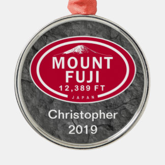 Personalized Mount Fuji 12,389 FT Japan Mountain Metal Ornament