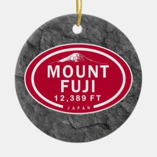 Personalized Mount Fuji Japan Mountain Ornament