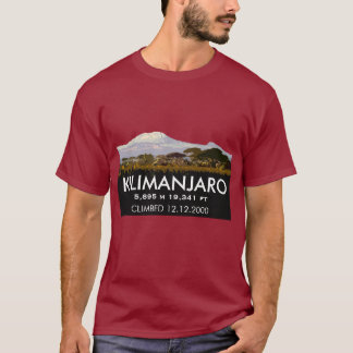 Personalized Mount Kilimanjaro Climb Commemorative T-Shirt