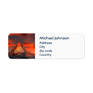 Personalized Mountain Matterhorn Zermatt Red Sky