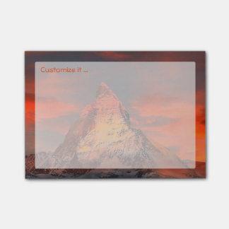 Personalized Mountain Matterhorn Zermatt Red Sky Post-it® Notes