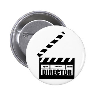 Personalized Movie Director Clapboard Gift 2 Inch Round Button