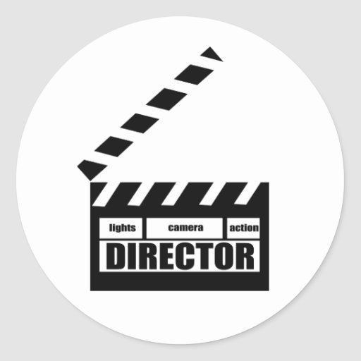 Personalized Movie Director Clapboard Gift Round Stickers