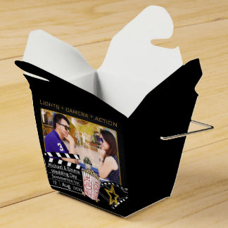 Personalized Movie Star Frame Party Favor Boxes