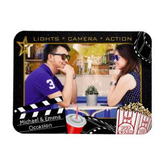 Personalized Movie Star Frame Rectangular Photo Magnet