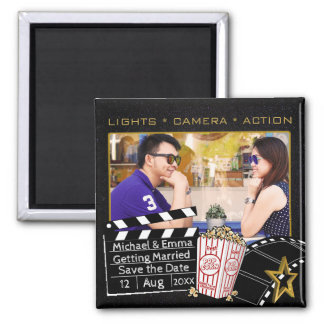 Personalized Movie Star Save the Date Magnet
