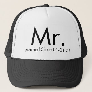Personalized Mr. Just Married Groom Hat