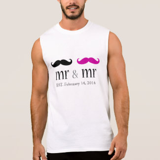 Personalized Mr. & Mr. Mustache T-Shirt