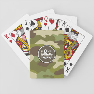 Personalized Mr & Mrs Camouflage Playing Cards