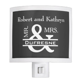 Personalized Mr & Mrs Gray Night Lite